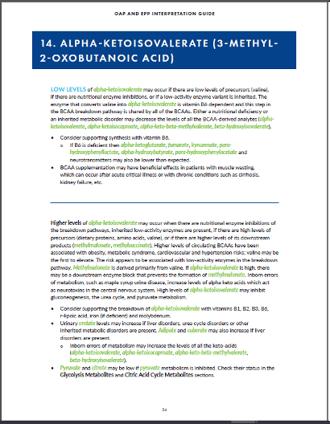 Organic Acids Profile Guide 3